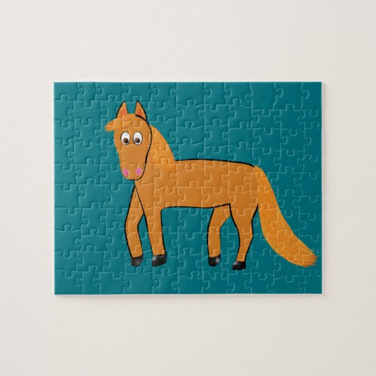Cartoon Chestnut Horse Puzzles
