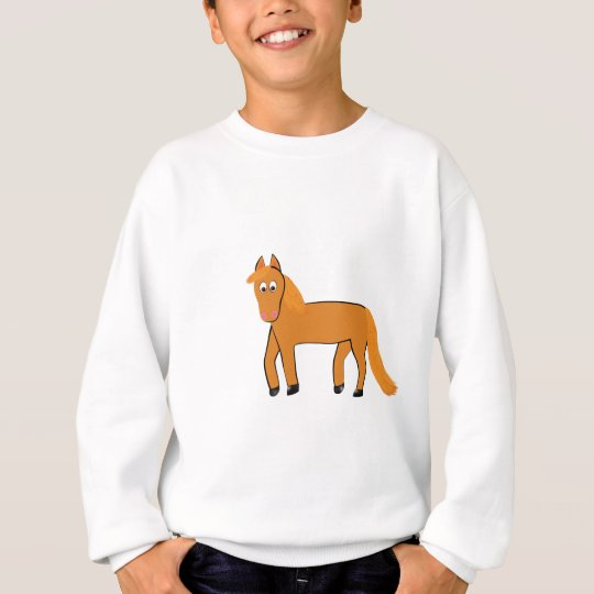 Cartoon Chestnut Horse Sweatshirt