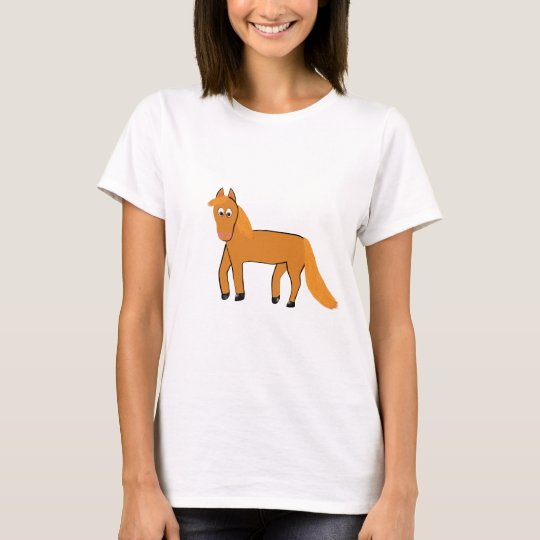 Cartoon Chestnut Horse T-Shirt