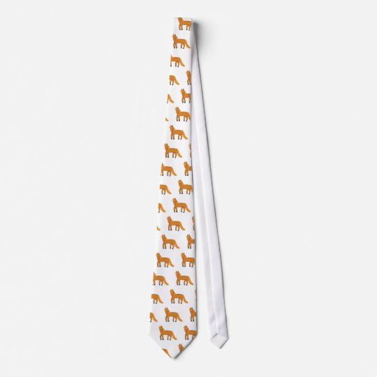 Cartoon Chestnut Horse Tie