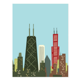 Cartoon Chicago Postcard