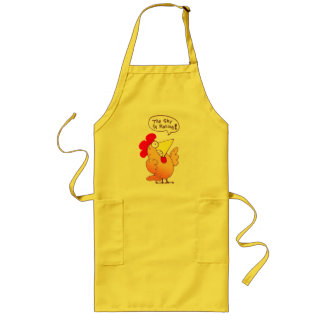 Cartoon Chicken Apron Funny Cartoon Chicken