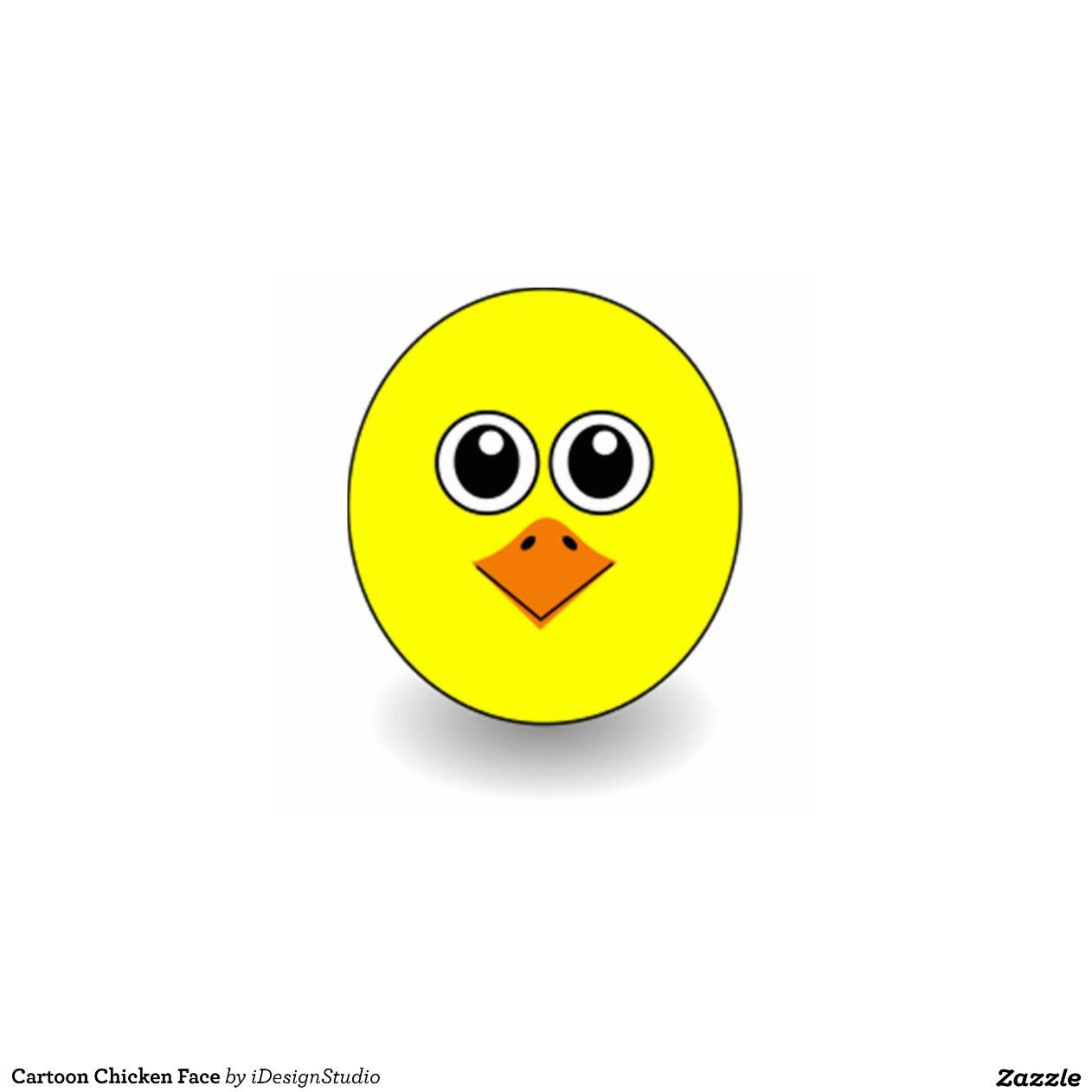 Chicken Face Cartoon