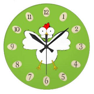 Cartoon chicken illustration clock