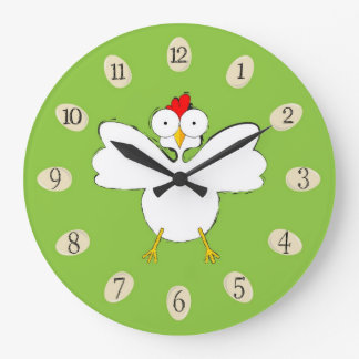 Cartoon chicken illustration large clock