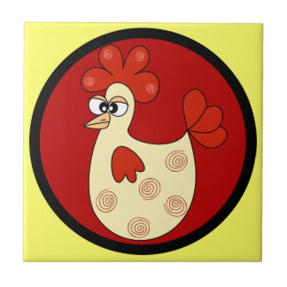 Cartoon Chicken kitchen tile