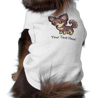 Cartoon Chihuahua (long coat) Pet T Shirt