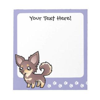 Cartoon Chihuahua (long coat) Notepad