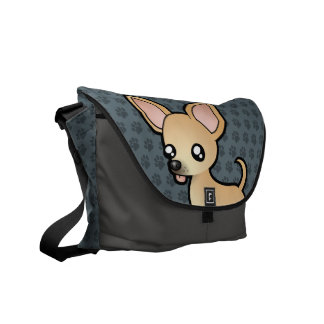 Cartoon Chihuahua (smooth coat) Courier Bag