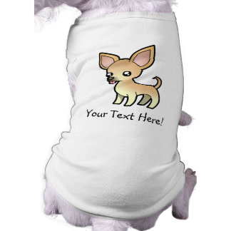 Cartoon Chihuahua (smooth coat) Pet Tee Shirt