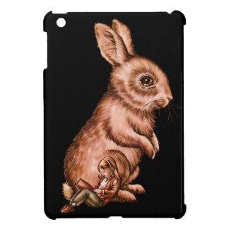 Cartoon Child with Bunny Rabbit Drawing iPad Mini Cover