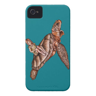 Cartoon Child With Turtle Animal Drawing Case-Mate iPhone 4 Case