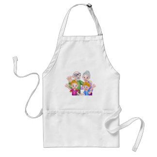 Cartoon Children and Grandparents Standard Apron