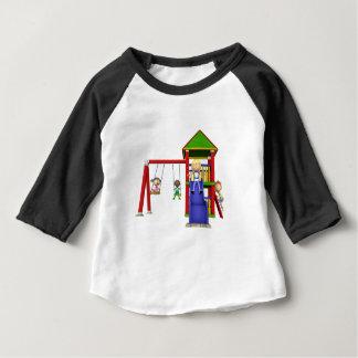 Cartoon Children at a Playground Baby T-Shirt