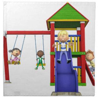 Cartoon Children at a Playground Napkin