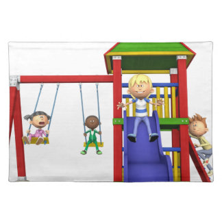 Cartoon Children at a Playground Placemat
