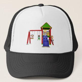 Cartoon Children at a Playground Trucker Hat