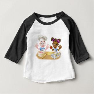 Cartoon Children Bakers Cooking Baby T-Shirt