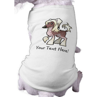 Cartoon Chinese Crested (hairless) Pet T Shirt