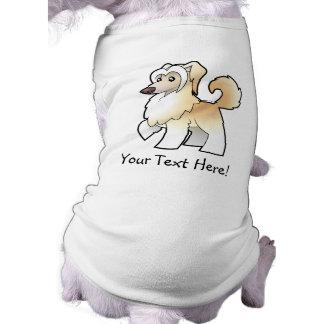 Cartoon Chinese Crested (powderpuff) Doggie T Shirt