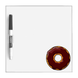 Cartoon Chocolate Donut Design Dry Erase Board