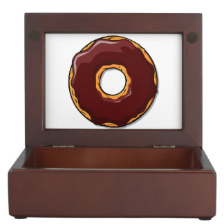 Cartoon Chocolate Donut Design Keepsake Box