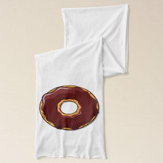 Cartoon Chocolate Donut Design Scarf