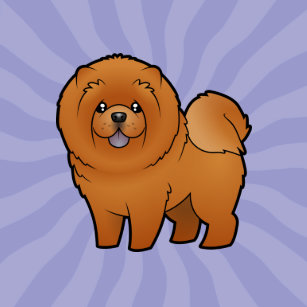 Portrait Of Cute Chow Chow Isolated On White Background Line Art
