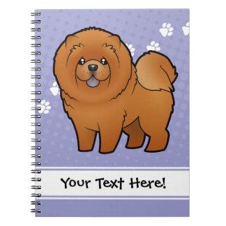 Cartoon Chow Chow Notebooks