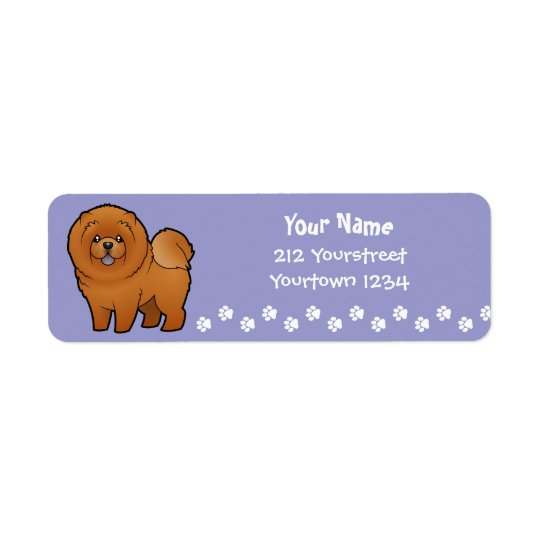 Cartoon Chow Chow Return Address Label