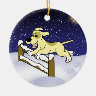 Cartoon Christmas Agility Dog Ornament