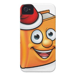 Cartoon Christmas Book Character Mascot iPhone 4 Case