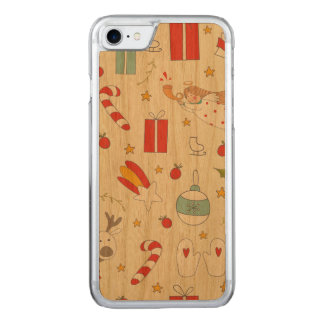 Cartoon Christmas bundle - Xmas gifts Carved iPhone 8/7 Case