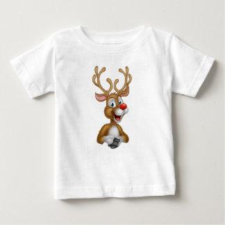 Cartoon Christmas Reindeer Baby T-Shirt