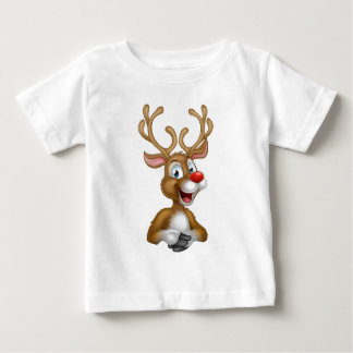 Cartoon Christmas Reindeer Baby T-Shirt