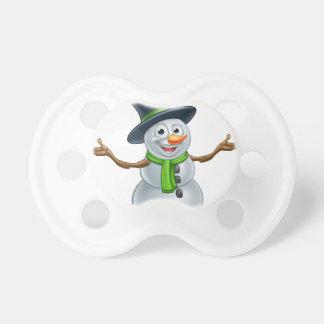 Cartoon Christmas Snowman Pacifier