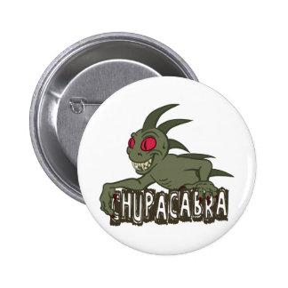 Cartoon Chupacabra Pinback Button