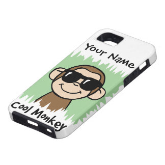 Cartoon Clip Art Cool Monkey with Sunglasses Case For The iPhone 5