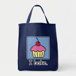 Cartoon Clip Art Cupcake Dessert Pink Frosting Tote Bag