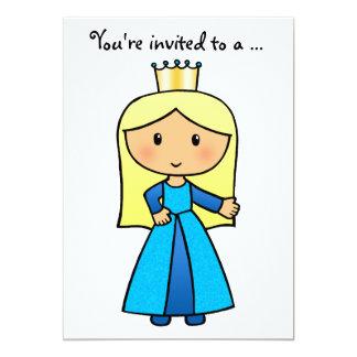 Cartoon Clip Art Cute Blond Princess Bridal Shower Card