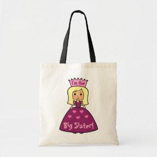 Cartoon Clip Art Cute I'm the Big Sister Princess Tote Bag