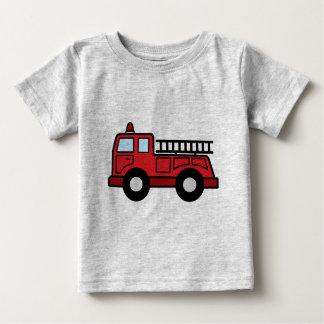 Cartoon Clip Art Firetruck Emergency Vehicle Truck Baby T-Shirt