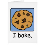 Cartoon Clip Art Yummy Chocolate Chip Cookie Note Card