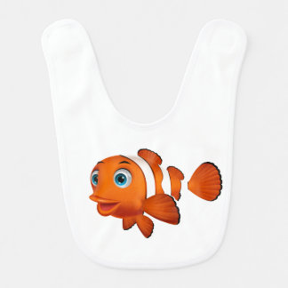 Cartoon Clown Fish Baby Bib