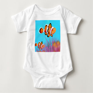 Cartoon clown fish baby bodysuit