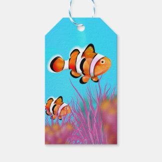 Cartoon clown fish gift tags