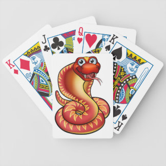 Cartoon Cobra Snake Character Bicycle Playing Cards