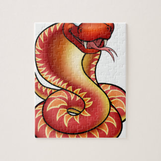 Cartoon Cobra Snake Character Puzzles