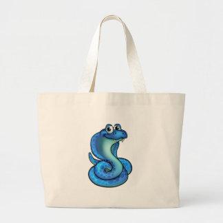Cartoon Cobra Snake Large Tote Bag