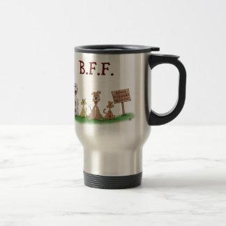 Cartoon Coffee/Tea Mugs: Best Friends Forever Travel Mug